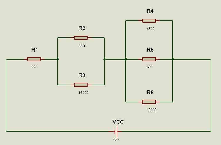 circuito mixto de resistencias