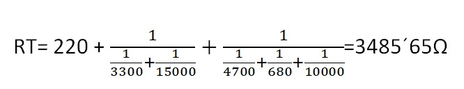 Cálculo de la resistencia total