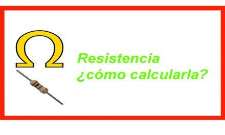 Resistencia eléctrica, tipos y cálculo.