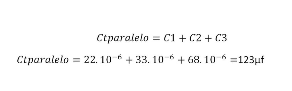 Cálculo de condensadores en paralelo