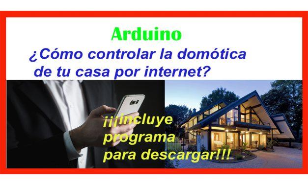 Control de relé por internet mediante Arduino y Ethernet Shield.
