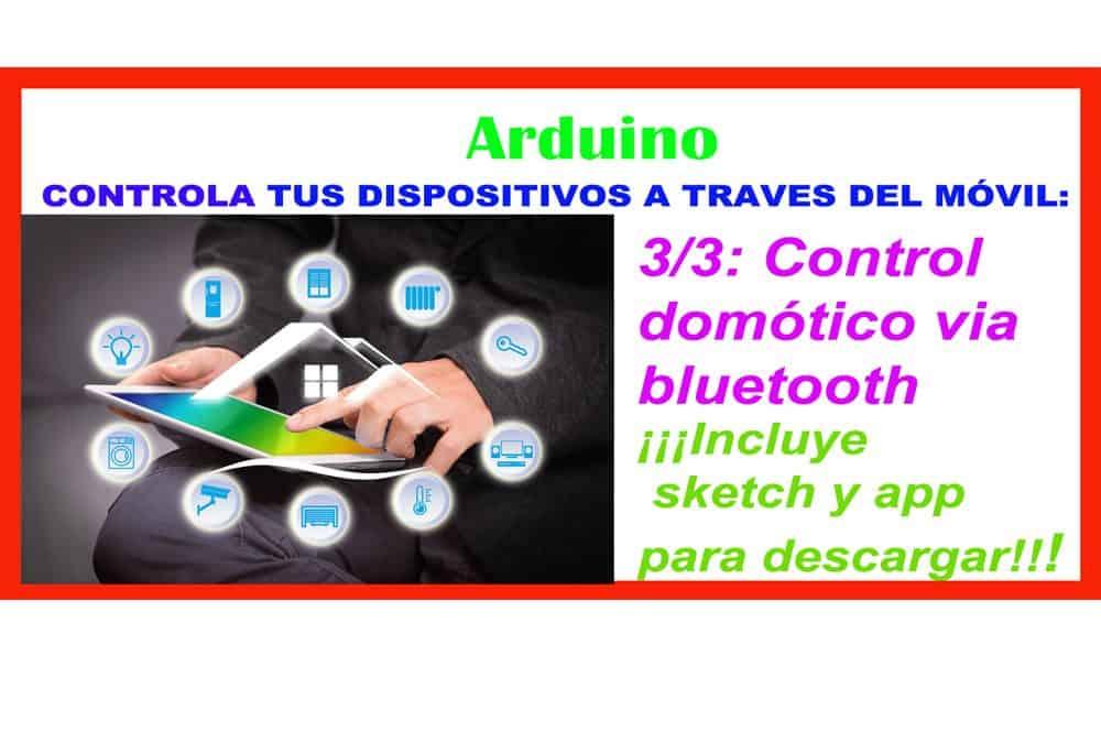 Control domótico de tus dispositivos vía bluetooth