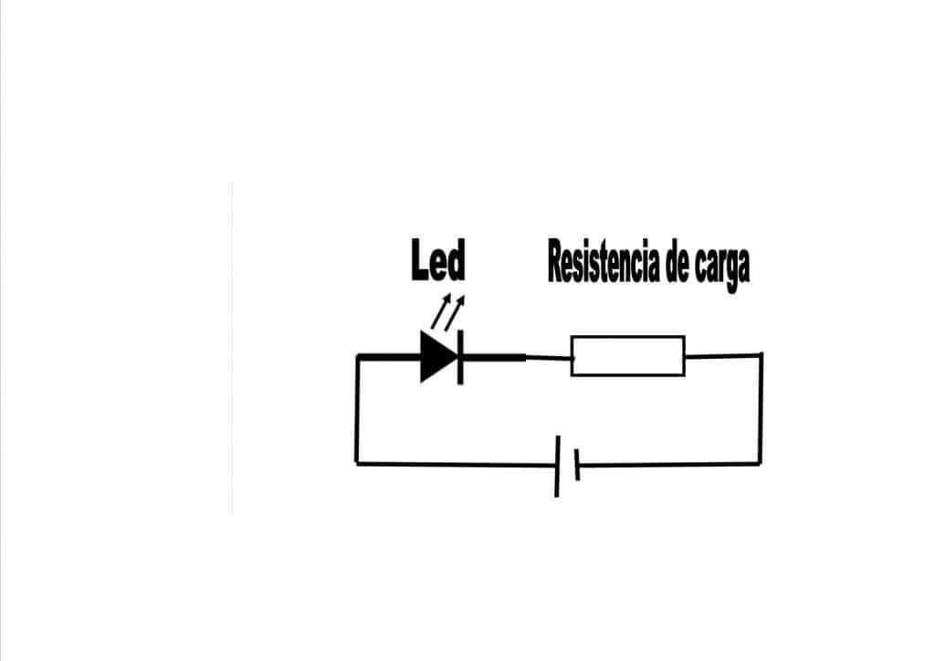 resistencia de carga del diodo led