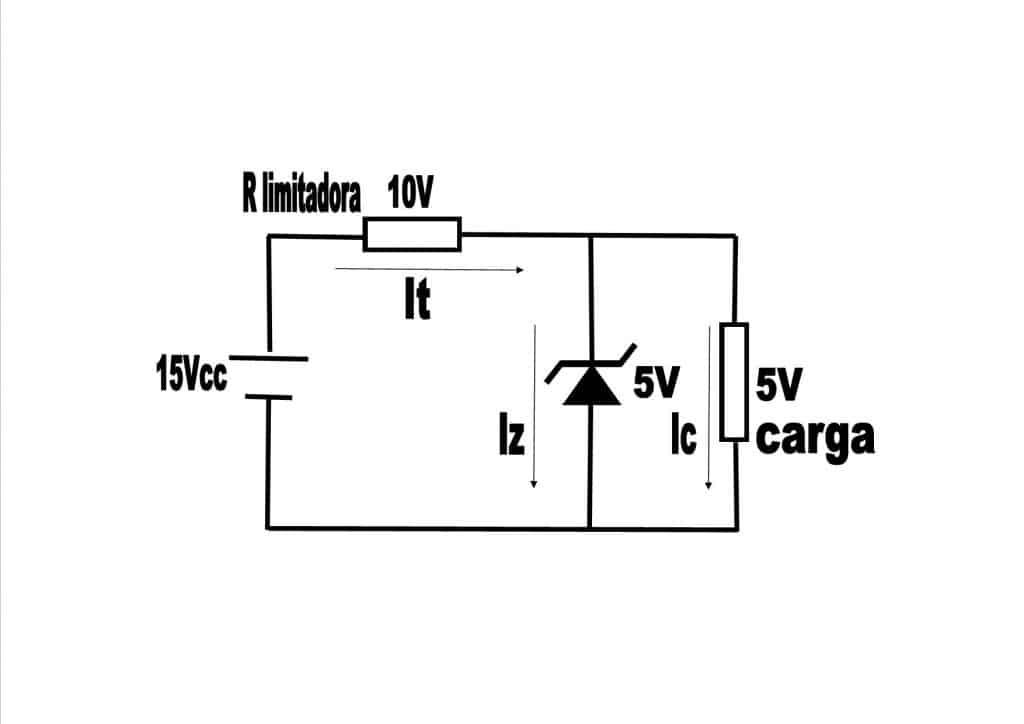 Zener circuito regulador de tensión