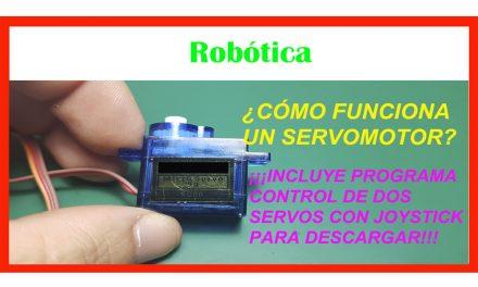 Servomotor usado en robótica