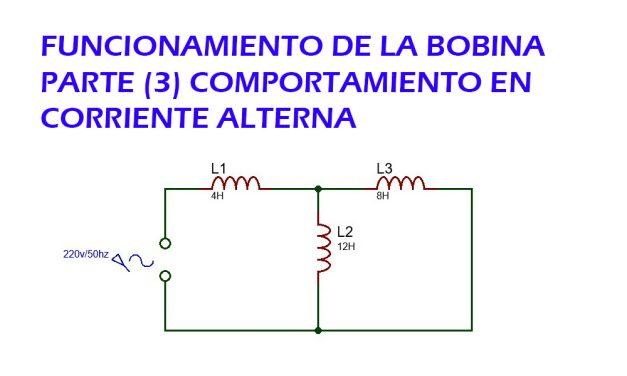 como funciona una bobina (parte 3) comportamiento en corriente alterna